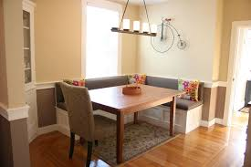Dining Room Floor Dining Room Cozy Parkay Floor With Exciting Banquette Seating And