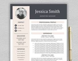 resume templates professional profile statement professional and modern resume template for word and pages