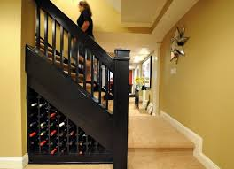 best basement stairs storage wine storage idea for basement stairs