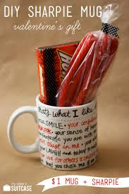 Valentine S Day Homemade Gift Ideas by Diy Sharpie Mug Valentine Gift My Sister U0027s Suitcase Packed
