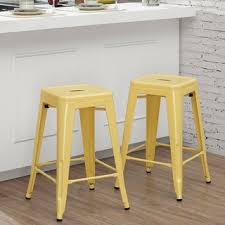yellow counter height 23 28 in bar u0026 counter stools shop the