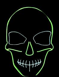 Skeleton Mask Neon Green Skeleton Mask Masks And Fancy Dress Costumes Vegaoo