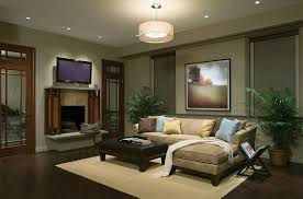 family room furniture sets family room with a brown sectional sofa with a modern chandelier