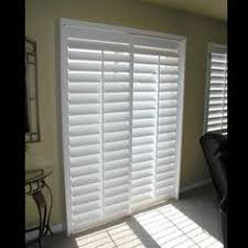 Plantation Shutters For Patio Doors Tracked Full Height Window Shutters Are Perfect For Your Patio