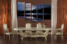 5 piece black and white ocean blue multi panel canvas