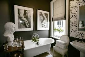 Black And White Bathroom Decor by Black And White Roman Shades Eclectic Bathroom John Jacob