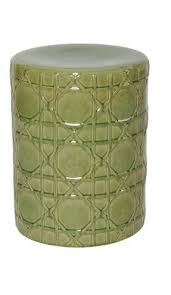 Ceramic Side Table Green Garden Stool Ceramic Foter