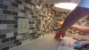 how to tile a backsplash in kitchen how to install glass mosaic tile backsplash part 3 grouting the