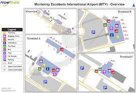 Monterrey Mexico Map by Monterrey General Mariano Escobedo International Mty Airport