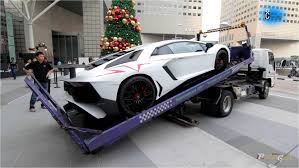 lamborghini truck best truck delivery of lamborghini aventador lp750 4 sv youtube