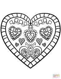 hearts coloring pages mosaic heart pdf color free small