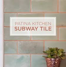 Kitchens With Subway Tile Backsplash Patina Kitchen A Unique Subway Tile Backsplash