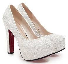 wedding shoes thick heel sfnld women s sequined toe platform high chunky heel