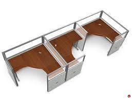 Office Desk Cubicles The Office Leader 3 Person L Shape Office Desk Cubicle Cluster