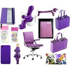 Purple Desk Organizers Colorful Desk Accessories Stylish Purple Office Supplies From