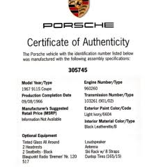 1967 porsche 911s matching numbers project with coa for sale in