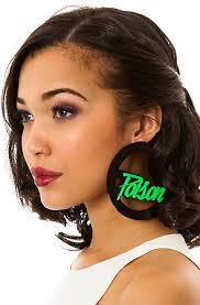 black girl earrings melody ehsani earrings that girl is poison hoop in black