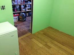 how to install bamboo hardwood flooring part 3 of pantry remodel