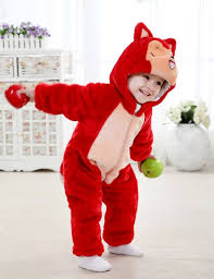 Raccoon Halloween Costume Baby Red Raccoon Jumpsuit Climbing Clothes N6261