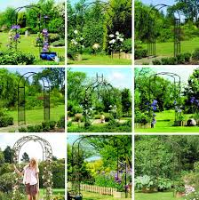 metal garden arch arches ornament trellis for climbing plants by