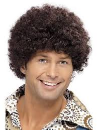 Curly Afro Fancy Dress Wigs Funky Disco Clown Style Mens Ladies