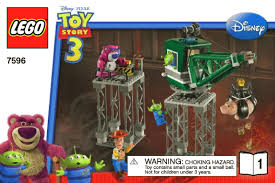 lego toy story trash compactor escape 7596 instructions diy book