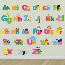 Alphabet Wall Decals For Nursery Large Alphabet Wall Decals Letter Stickers Alphabet Decals For