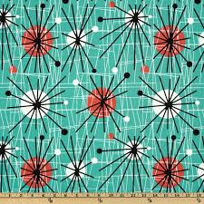 Discount Upholstery Fabric Online Australia Michael Miller Mid Century Modern Atomic Turquoise Discount