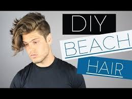 diy mens haircut men s wavy hair tutorial and diy sea salt spray youtube