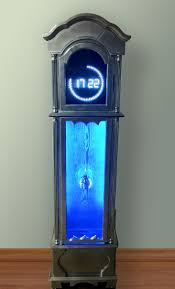 Contemporary Grandfather Clock Well Connected The Culture Cave