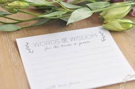 words of wisdom for and groom cards 10 free bridal advice card templates