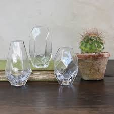Trio Vases Trendy Geo Glass Vases Set Of 3