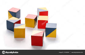 color of intelligence iq test intelligence old cubes in color isolate on white stock