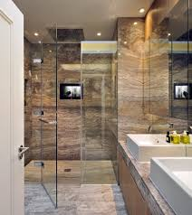 travertine liner tiles bathroom contemporary with neutral colors