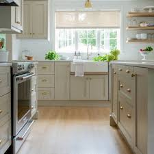 kitchen cabinets with light floor 75 beautiful light wood floor kitchen with beige cabinets
