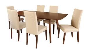 room dining sets leonis walnut wood expandable piece dining set