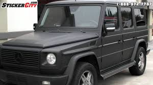 jeep wagon mercedes matte black mercedes g wagon by stickercity com youtube
