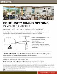 roper reserve community grand opening west orange chamber of