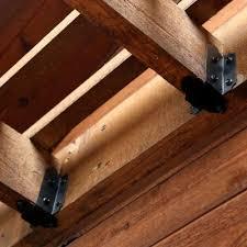 owt ornamental wood ties 6 in 8 in joist hanger tab laredo