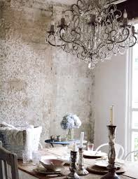 french country glass dining room chandelier above custom diy