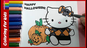 halloween coloring pages how to color halloween hello kitty