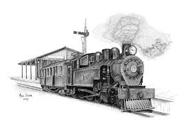 old nz house pointillism drawing mike oliver pointallism