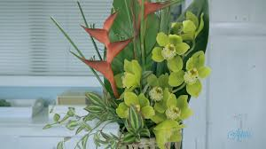 tropical flower arrangements flowers floristry tutorial simple tropical flower arranging