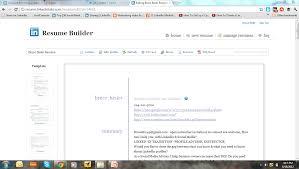 linked in resume builder ui developer resume