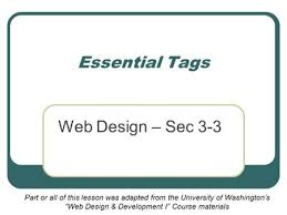 a basic web page chapter 2 objectives html tags and elements