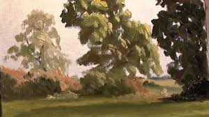 country trees landscape painting