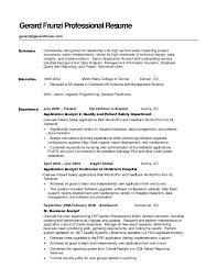 resume summary of qualifications management outstanding exle of resume summary 1 resume qualifications