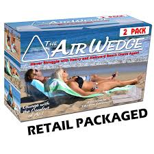 Amazon Beach Chair Amazon Com Gosports Airwedge Inflatable Beach Chair Relax With