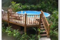 above ground pool with deck around it decks home decorating