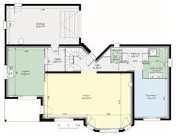 plan maison en u ouvert plan de maison duplex en 3d